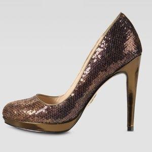 Cole Haan bronze Chelsea sequin pumps w/ Nike air